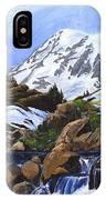 Mount Rainier From Edith Creek IPhone Case