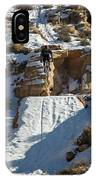 Mountain Biker Jumping With Snowy IPhone Case