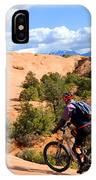 Mountain Biking Moab Slickrock Trail - Utah IPhone Case