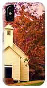 Mountain Church In Fall IPhone Case