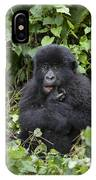 Mountain Gorilla Baby Chewing On Finger IPhone Case