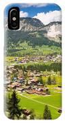 Mountain Landscape With Village In The Allgaeu Alps Austria IPhone Case