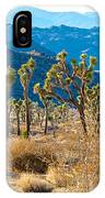 Mountain Layer Landscape From Quail Springs In Joshua Tree Np-ca- IPhone Case