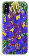 Mountain Lupine In Ancient Incan Pisac In Andes Mountains Above Sacred Valley-peru   IPhone Case