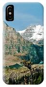 Mountain Peaks From Plain Of Six Glaciers Trail In Banff Np-albe IPhone Case