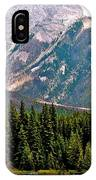 Mountain Peaks Over Johnson Lake In Banff Np-alberta IPhone Case