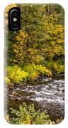 Mountain Stream In Autumn IPhone Case