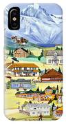Mountain Town Of Canmore IPhone Case