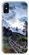 Mountain Wooden Fence  IPhone Case