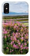 Mountains And Wildflowers IPhone Case