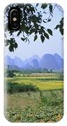 mountains near Yangshou and Guilin  IPhone Case