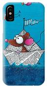 Mouse In His Paper Boat IPhone Case