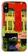 Mr Jordan Mediterranean Food Cafe Cabbagetown Restaurants Toronto Street Scene Paintings C Spandau IPhone Case
