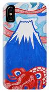 Mt. Fuji And A Red Dragon IPhone Case