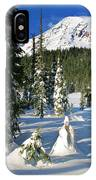 Mt Rainier At Reflection Lakes In Winter IPhone Case