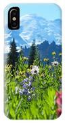 Mt. Rainier Wildflowers IPhone Case
