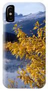 1m3626-mt. Saskatchewan In Fall IPhone Case