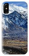 Mt. Timpanogos In Winter From Utah Valley IPhone Case