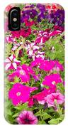 Multi-colored Blooming Petunias Background IPhone Case