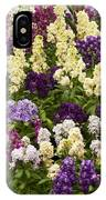 Multi-colored Blooms IPhone Case