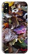 Multicolored Autumn Leaves IPhone Case