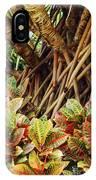 Multicolored Codiaeum IPhone Case