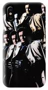 Multiple Johnny Cash's In Trench Coat 1 Collage Old Tucson Arizona 1971-2008 IPhone Case