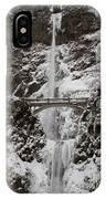 Multnoma Falls In Winter IPhone Case