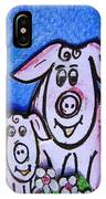 Mummy And Baby Pig  IPhone Case