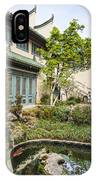 Museum Courtyard - Beautiful Courtyard Of The Pacific Asia Museum In Pasadena. IPhone Case