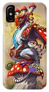 Mushroom Dragon IPhone X Case