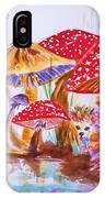 Mushrooms And Hedgehogs IPhone Case