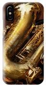 Music - Brass - Saxophone  IPhone Case