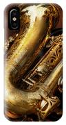 Music - Brass - Saxophone  IPhone Case
