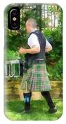 Music - Drummer In Pipe Band IPhone Case