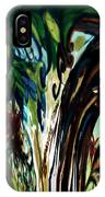Music In Bird Of Tree Drip Painting IPhone Case