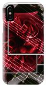 Musical Rose Montage IPhone Case