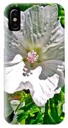 Musk Mallow Along Trail To Cap Gaspe In Forillon National Park-quebec  IPhone Case