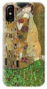 My Acrylic Painting As An Interpretation Of The Famous Artwork Of Gustav Klimt The Kiss - Yakubovich IPhone Case