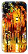 My Best Friend - Palette Knife Oil Painting On Canvas By Leonid Afremov IPhone Case