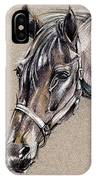My Horse Portrait Drawing IPhone Case