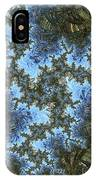 My Maui Fractal Art Abstract Palms And Blue Sky And Waters IPhone Case