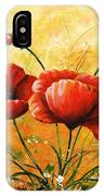 My Poppies 047 IPhone Case