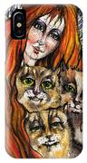 My Three Cats IPhone Case