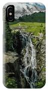 Myrtle Falls In Front Of Mt. Rainier IPhone Case
