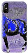 Mysterious Stallion Abstract IPhone Case