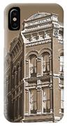 N. D. Hill Building. Port Townsend Historic District  IPhone Case