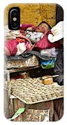 Nap Time For Child And Street Shopkeeper In Lhasa-tibet   IPhone Case