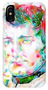 Napoleon Bonaparte - Watercolor Portrait IPhone Case