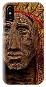 Native American In Wood 1886 IPhone Case